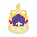 britain, british, crown, isometric, kingdom, royal, united icon
