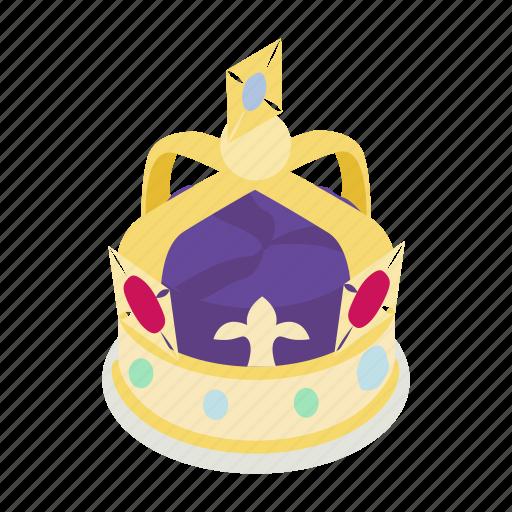 britain, british, crown, isometric, kingdom, royal, united icon
