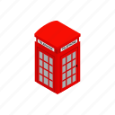 british, communication, england, english, isometric, old, telephone icon