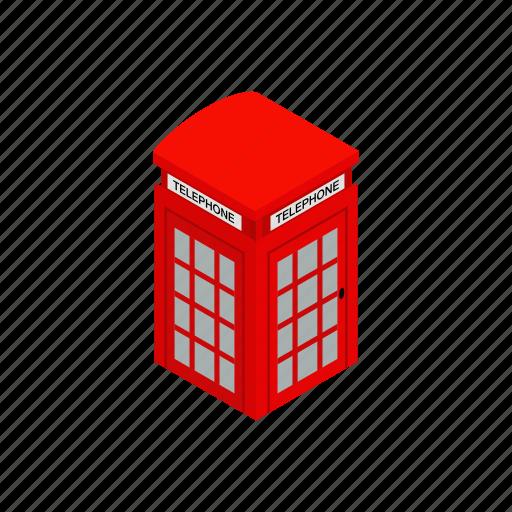 british, communication, england, english, isometric, old, telephone icon