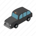 cab, car, isometric, london, taxi, transport, travel icon