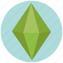 ability, capability, emerald, energy, force, opportunity, power icon