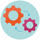 engineering, gears, mechanism, methodology, technics, technology, tool icon