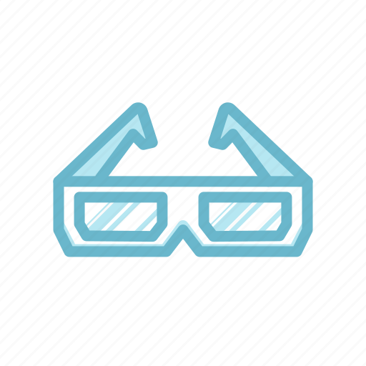 Blue, entertaiment, glasses, hd cinema, hd movie, movie icon - Download on Iconfinder