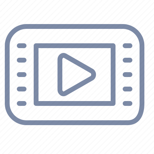 clip, film, interface, media, movie, play, player icon