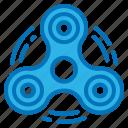entertainment, fidget, kid, spinner, toy icon