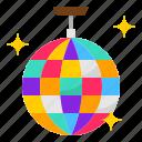 ball, disco, entertainment, party, reflect icon