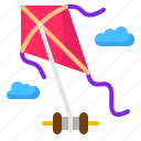 diamond, entertainment, flying, kite, toy icon