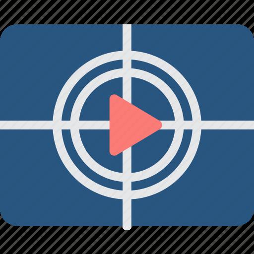 entertainment, film, movie, play, watch icon