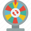 entertainment+, game, prize, show, wheel icon