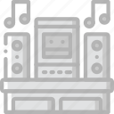 dance, entertainment, music, player, stereo icon