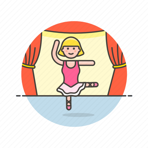 ballet, classical, dance, entertainment, perform, theater, woman icon