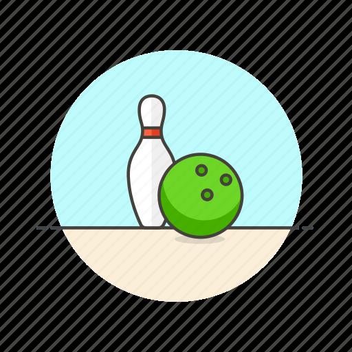 ball, bowling, entertainment, equipment, fun, game, pin icon