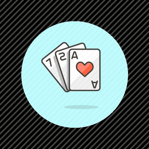 blackjack, cards, entertainment, gamble, game, poker, strategy icon