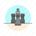 chess, couple, entertainment, game, king, plan, play, strategy icon