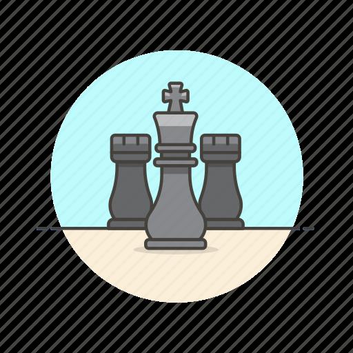 chess, couple, entertainment, game, king, plan, play, strategy icon