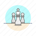 chess, entertainment, game, king, plan, play, strategy, white icon
