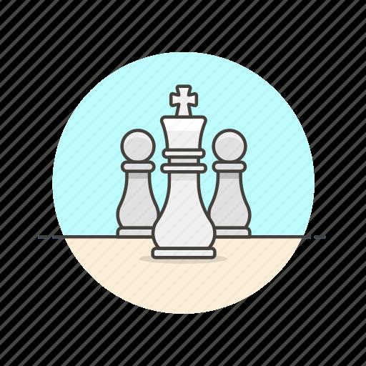 chess, entertainment, game, king, plan, play, strategy, white icon