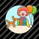 balloon, clown, entertainment icon