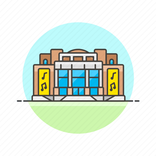 building, concert, entertainment, hall, music icon