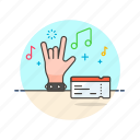 concert, entertainment, live, music, pass, rock, show, ticket icon