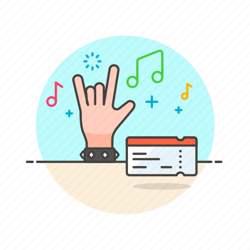 concert, entertainment, live, music, pass, rock, show, ticket icon