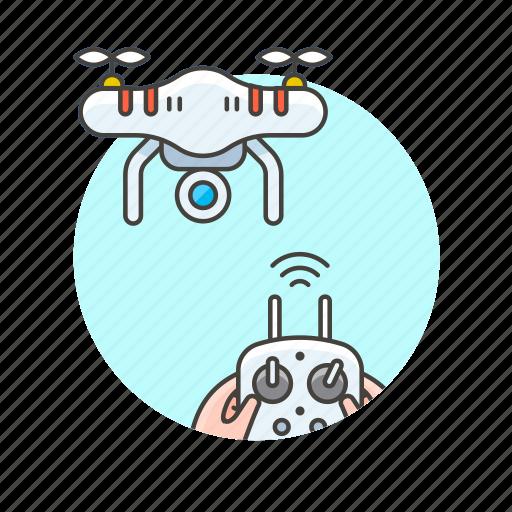 control, device, drone, entertainment, navigate, play, tech icon