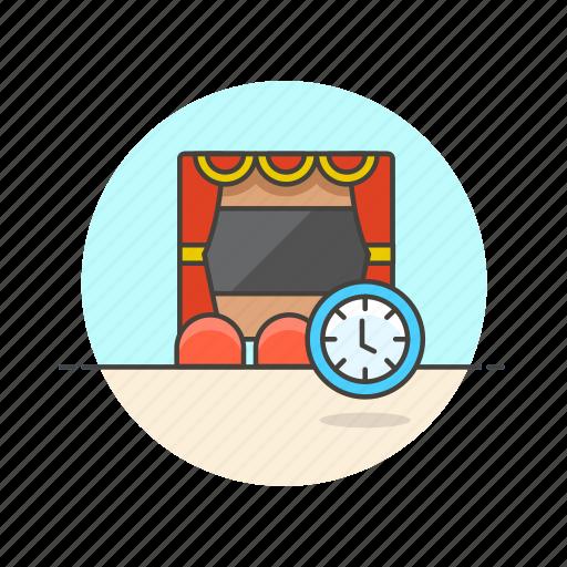cinema, entertainment, film, movie, showtime, time, watch icon