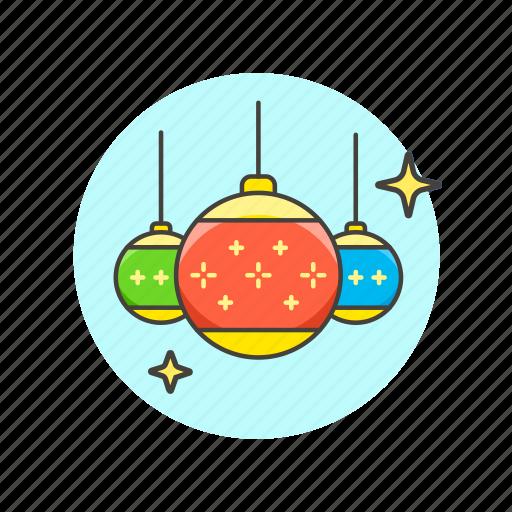 balls, celebrate, christmas, entertainment, new, shine, year icon