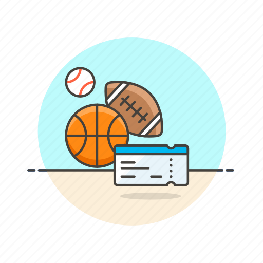 ball, entertainment, game, match, pass, play, sports, ticket icon