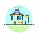 booth, entertainment, fun, machine, pass, play, ticket icon