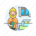 enjoy, entertainment, home, man, read, relax, zen, zone icon