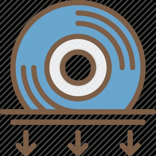 cd, disc, dvd, entertainment, insert icon