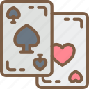 cards, club, entertainment, heart, playing, poker, spade icon