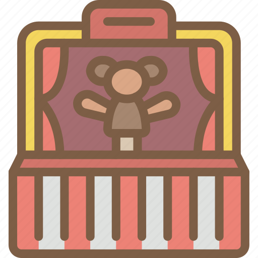 entertainment punch, judy, puppet, show icon