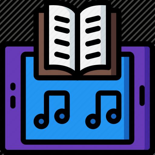 audio, book, entertainment, story icon