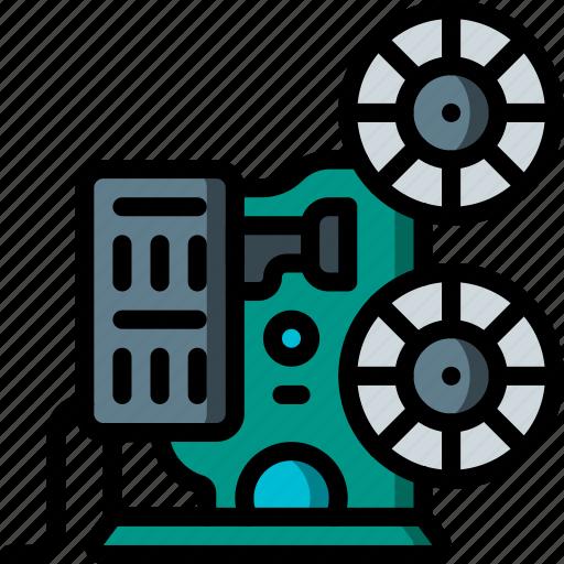 entertainment, film, movie, projector icon