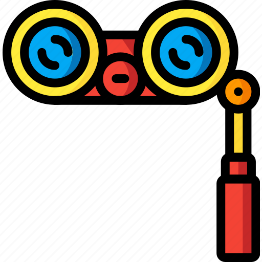 binoculars, entertainment, performance, stage, theatre icon