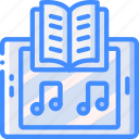 audio, book, entertainment, story icon