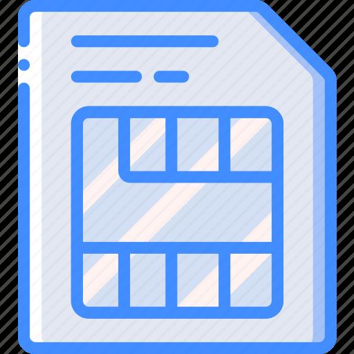 card, entertainment, phone, sim icon