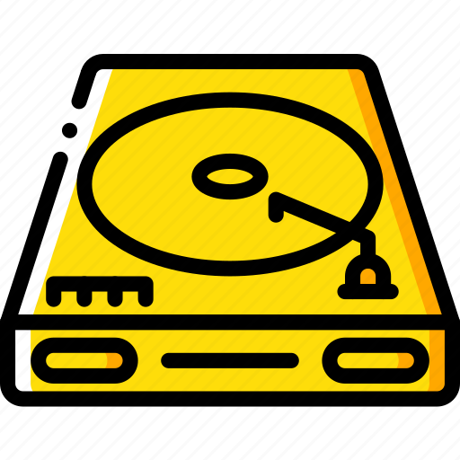 entertainment, music, player, recorder, vinyl icon