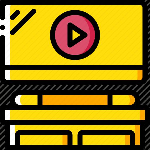 entertainment, film, home movie, movie, watch icon
