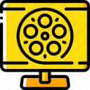 entertainment, film, home movie, movie, watch icon
