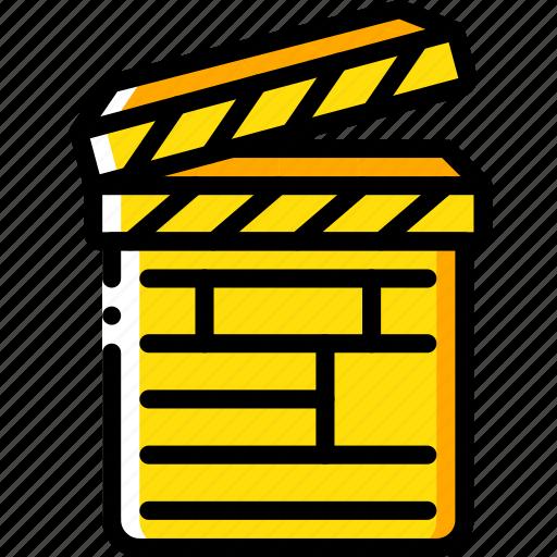 board, clapper, entertainment, film, movie icon
