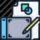 art, creative, creativity, design, graphic, tablet icon