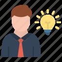 entrepreneur, businessman, startup, entrepreneurship icon