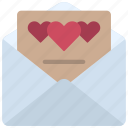 love, letter, mail, valentines, hearts