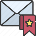 bookmark, email, mail, bookmarked, saved