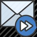 forward, email, mail, forwarded, forwarding icon