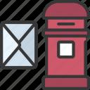 post, box, mail, postman, letter